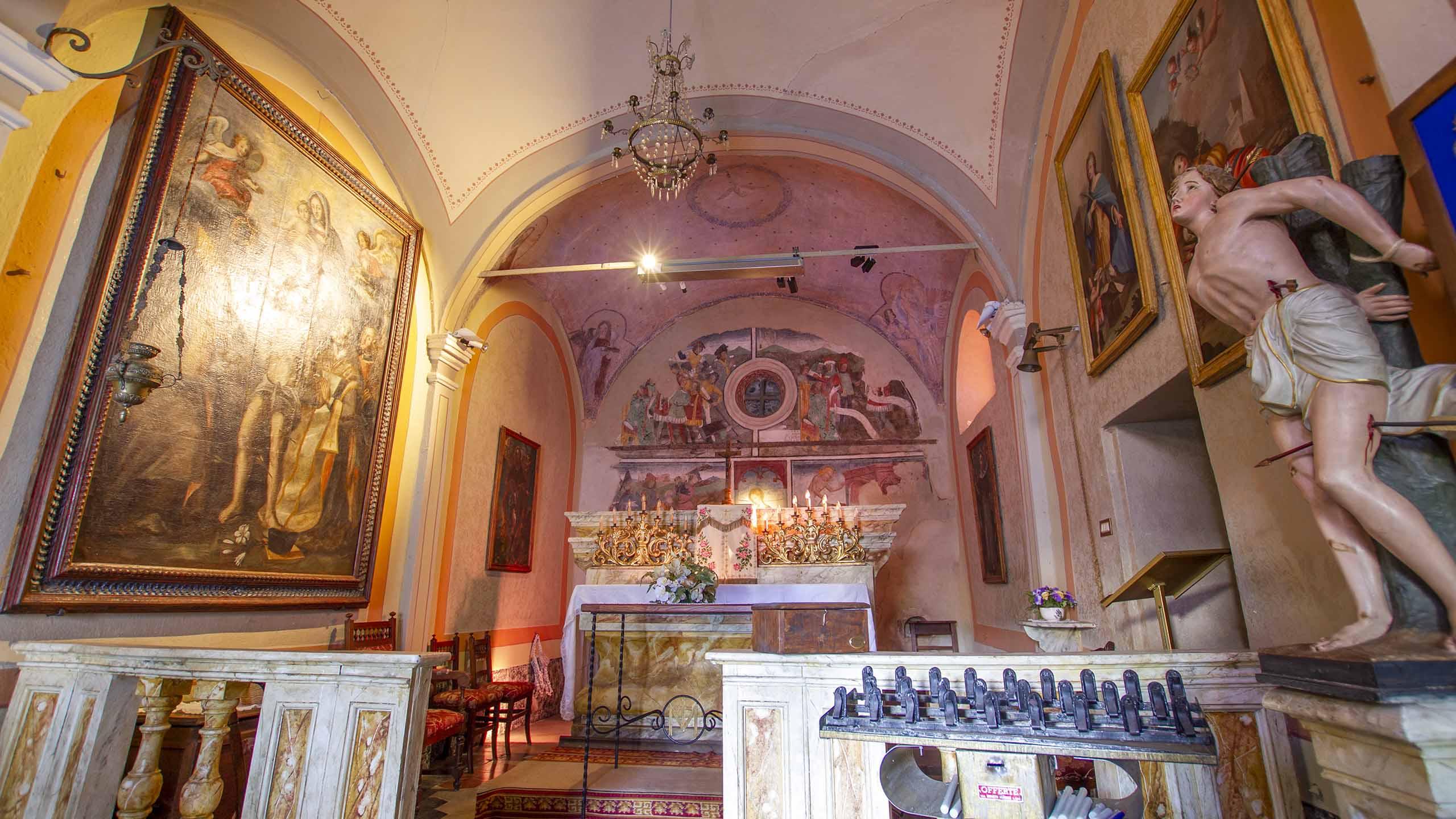Cappella di San Sebastiano_Giaveno_interno
