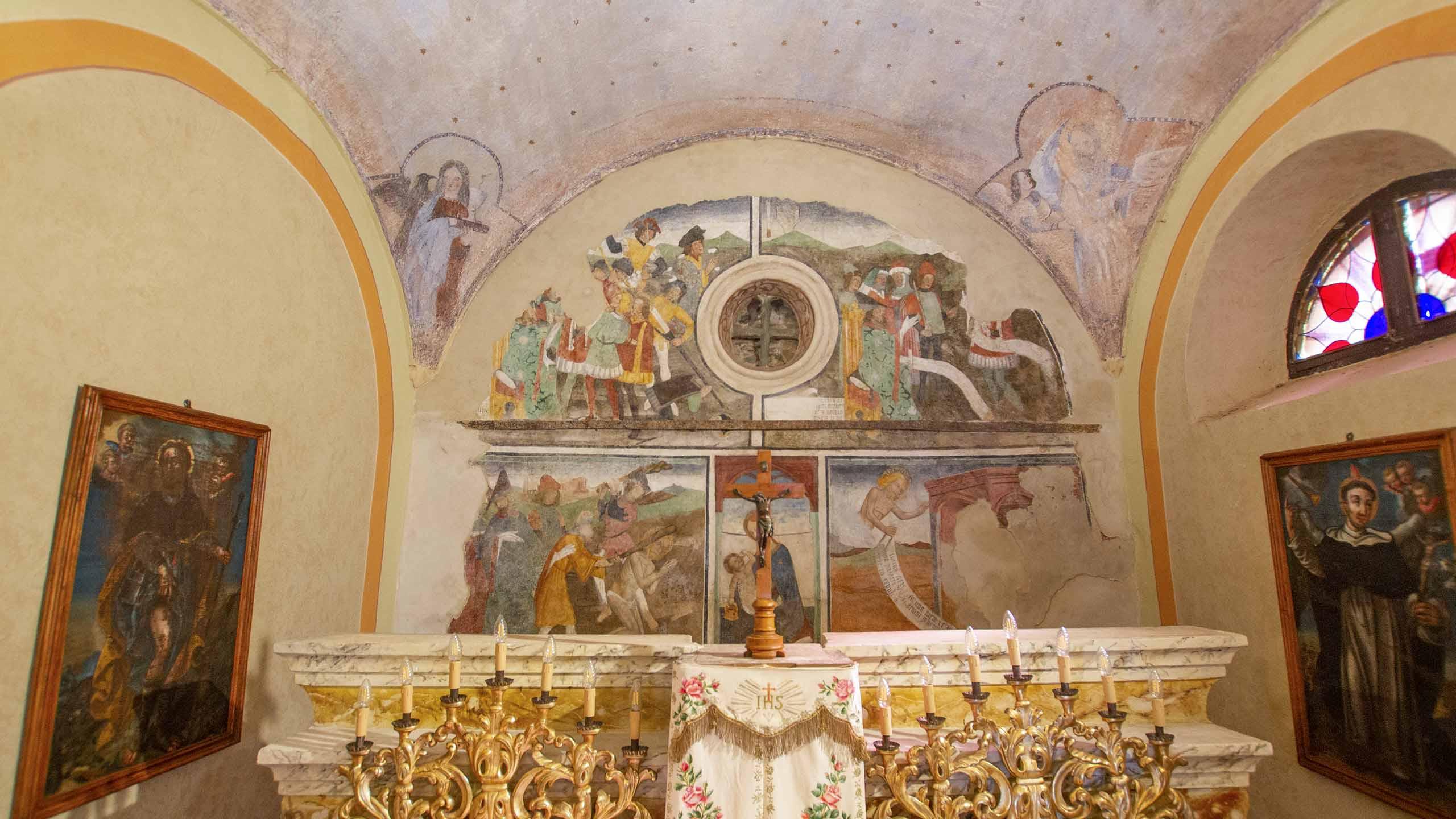 Martirio di San Sebastiano_Cappella di San Sebastiano_Giaveno_interno