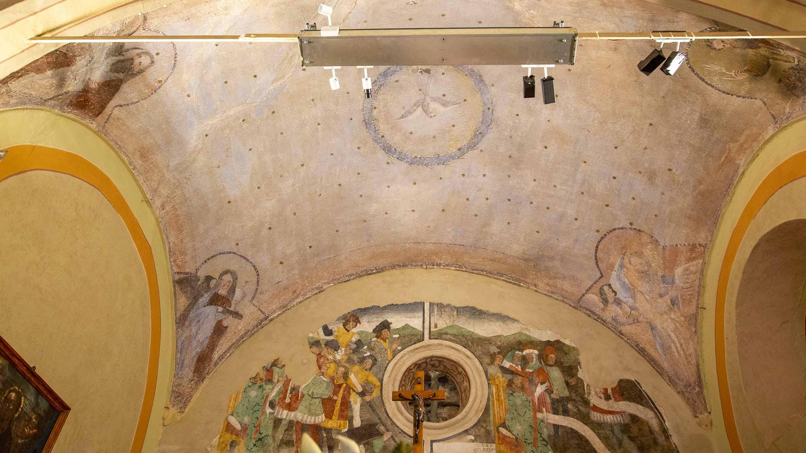 Volta_Cappella di San Sebastiano_Giaveno_interno