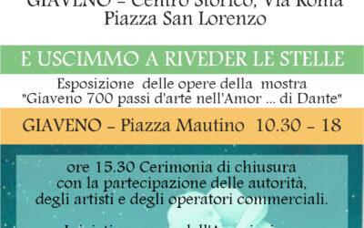 """Mercato delle pulci, erbe e  esposizione  di chiusura di """"Giaveno 700 passi d'arte nell'Amor di Dante"""" – domenica 27 giugno 2021"""