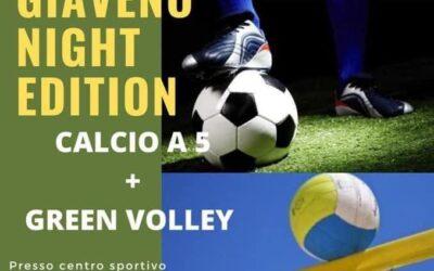12 ore Giaveno Night Edition calcio A5 + Green Volley – Venerdì 9 luglio 2021