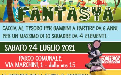 Parco Fantasya  – Caccia al tesoro  per bambini – sabato 24 luglio 2021