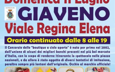 A Giaveno, in viale Regina Elena Gli Ambulanti di Forte dei Marmi domenica 11 luglio 2021
