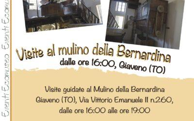 Apertura e visite al Mulino della Bernardina – domenica 25 luglio 2021 dalle ore 16 alle 19