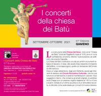 I Concerti della Chiesa dei Batù – 51° edizione – da sabato 11 settembre 2021