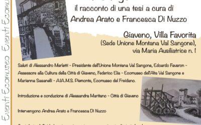 """""""Il patrimonio di mulini ad acqua in Val Sangone"""" – sabato 18 settembre  2021"""