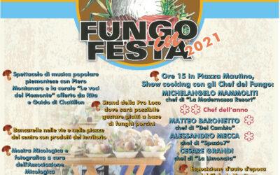Fungo in Festa  –  sabato  9   e  domenica 10 ottobre 2021 – 40° edizione