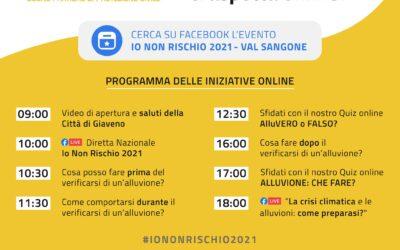 IO NON RISCHIO – BUONE PRATICHE DI PROTEZIONE CIVILE – Edizione 2021