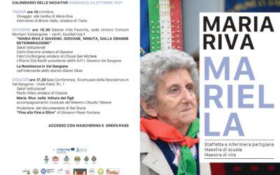 Maria Riva. Mariella, staffetta e maestra di scuola – domenica 24 ottobre 2021